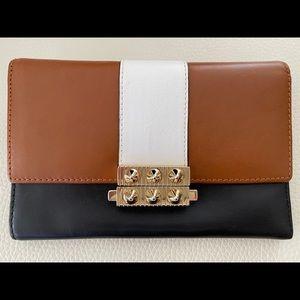 Studded Multi Color Calfskin Leather Wallet